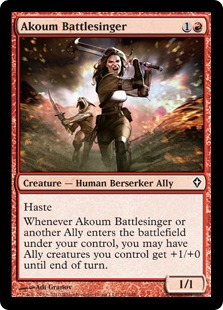 Akoum Battlesinger [WWK]