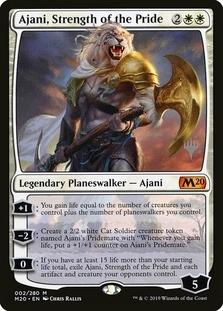 Ajani, Strength of the Pride <planeswalker stamp> [M20]
