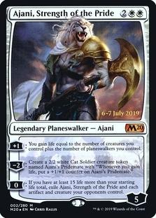 Ajani, Strength of the Pride <prerelease> [M20] (F)