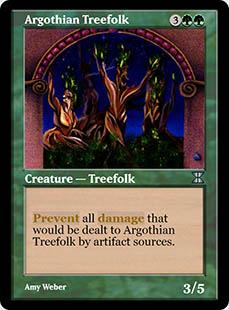 Mrm english 4x argothian treefolk ex mtg magic antiquities