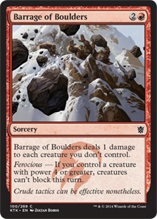 Barrage of Boulders [KTK] (F)