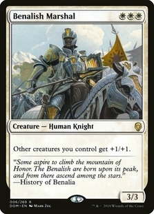 Benalish Marshal <planeswalker stamp> [DOM]