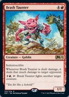 Brash Taunter <planeswalker stamp> [M21]