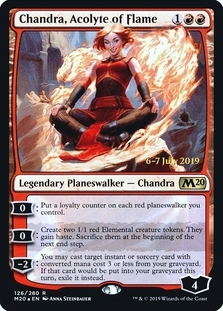 Chandra, Acolyte of Flame <prerelease> [M20] (F)