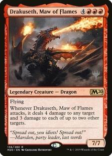 Drakuseth, Maw of Flames <planeswalker stamp> [M20] (F)