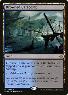 Drowned Catacomb <planeswalker stamp> [XLN] (F)