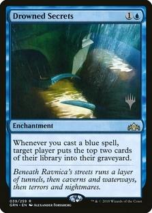 Drowned Secrets <planeswalker stamp> [GRN]