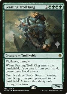 Feasting Troll King <planeswalker stamp> [ELD] (F)
