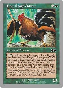 4x Free-Range Chicken NM-Mint English Unsanctioned MTG Magic