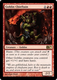 Image result for goblin chieftain mtggoldfish