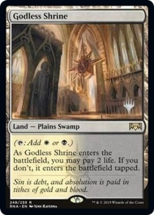 Godless Shrine <planeswalker stamp> [PELD] (F)