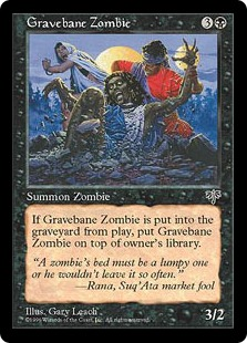 4x Gravebane ZombieMirageMTG Magic The Gathering Cards