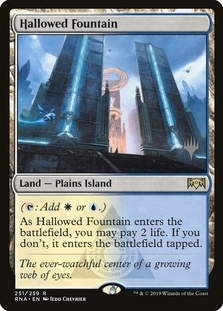 Hallowed Fountain <planeswalker stamp> [PTHB] (F)