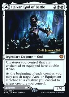 Halvar, God of Battle <prerelease> [KHM] (F)