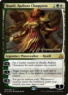 Huatli, Radiant Champion <prerelease> [RIX] (F)