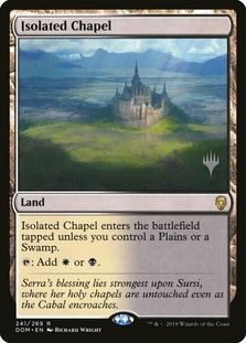 Isolated Chapel <planeswalker stamp> [DOM]