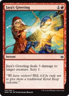 Jaya's Greeting [WAR]