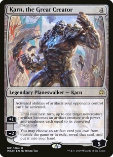 Karn, the Great Creator <planeswalker stamp> [WAR]