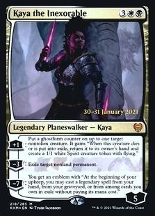 Kaya the Inexorable <prerelease> [KHM] (F)