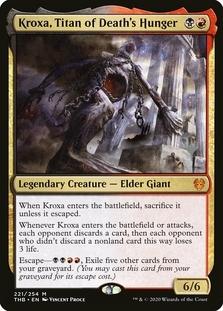 Kroxa, Titan of Death's Hunger <planeswalker stamp> [THB] (F)