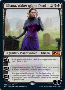 Liliana, Waker of the Dead <planeswalker stamp> [M21] (F)