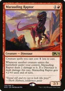 Marauding Raptor <planeswalker stamp> [M20] (F)