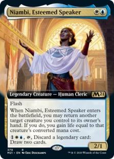 Niambi, Esteemed Speaker