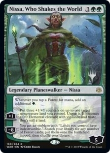 Nissa, Who Shakes the World <planeswalker stamp> [PELD]