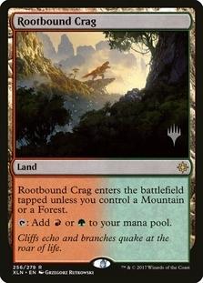 Rootbound Crag <planeswalker stamp> [XLN]
