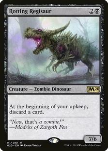 Rotting Regisaur <planeswalker stamp> [M20]