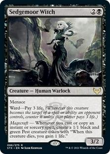Sedgemoor Witch <planeswalker stamp> [STX]