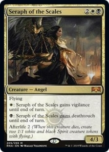 Seraph of the Scales <planeswalker stamp> [PELD] (F)