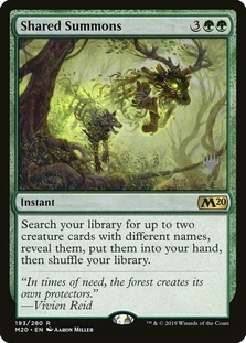 Shared Summons <planeswalker stamp> [M20] (F)