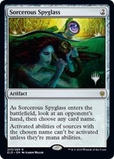 Sorcerous Spyglass <planeswalker stamp> [PELD] (F)