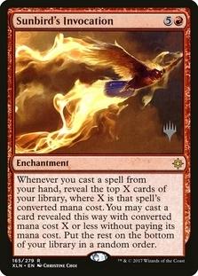 Sunbird's Invocation <planeswalker stamp> [XLN] (F)