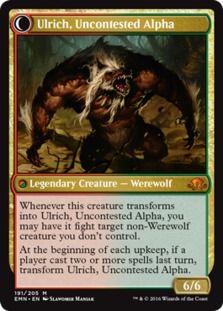 Ulrich, Uncontested Alpha