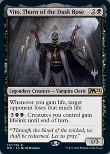 Vito, Thorn of the Dusk Rose <planeswalker stamp> [M21] (F)