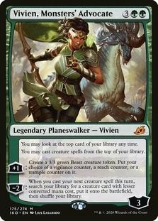 Vivien, Monsters' Advocate <planeswalker stamp> [IKO] (F)