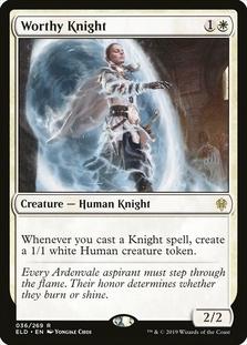Worthy Knight <planeswalker stamp> [ELD] (F)