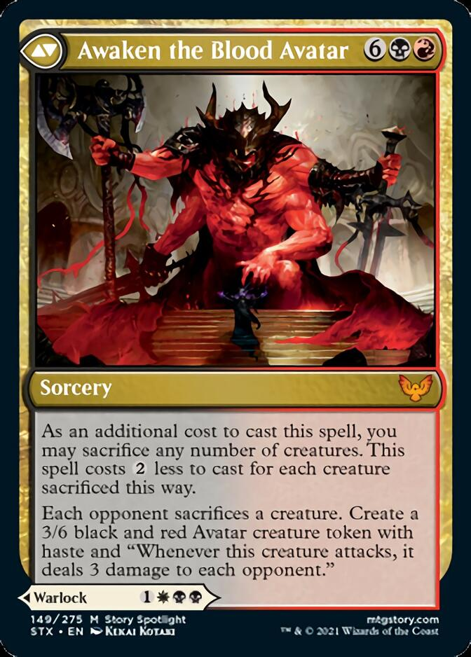 Awaken the Blood Avatar [STX]