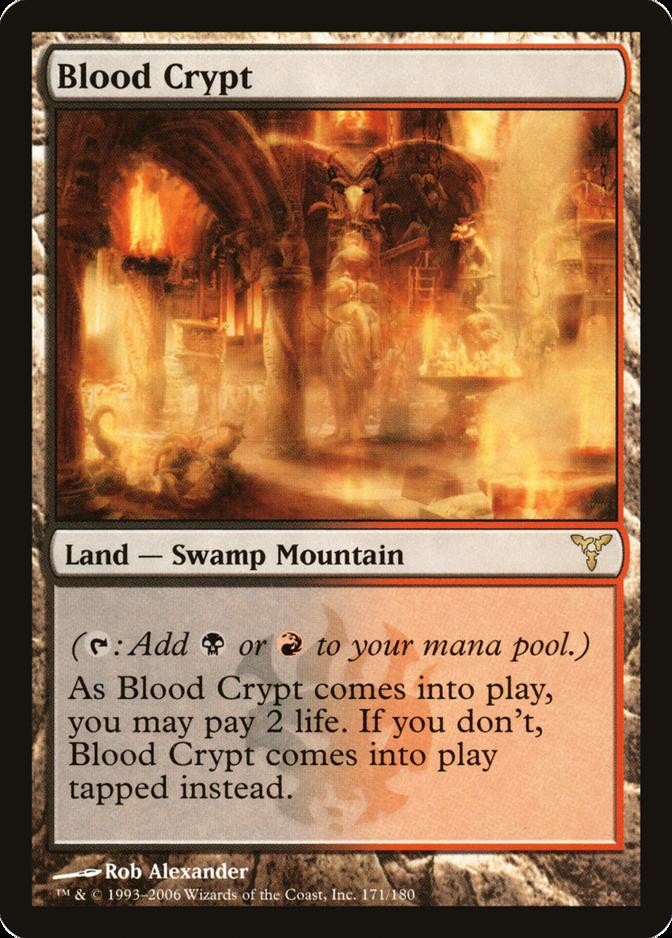 MTG Blood Crypt EX condition Return To Ravnica