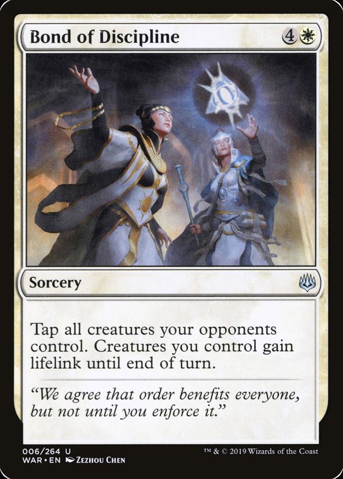 Bond of Discipline [WAR]