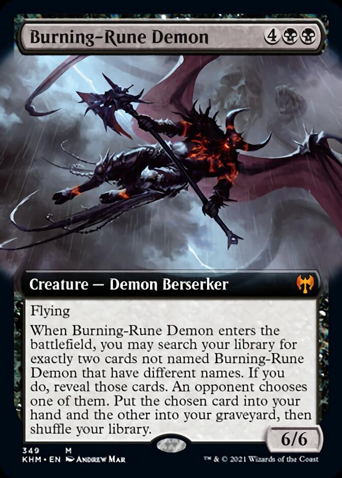 Burning-Rune Demon <extended> [KHM]