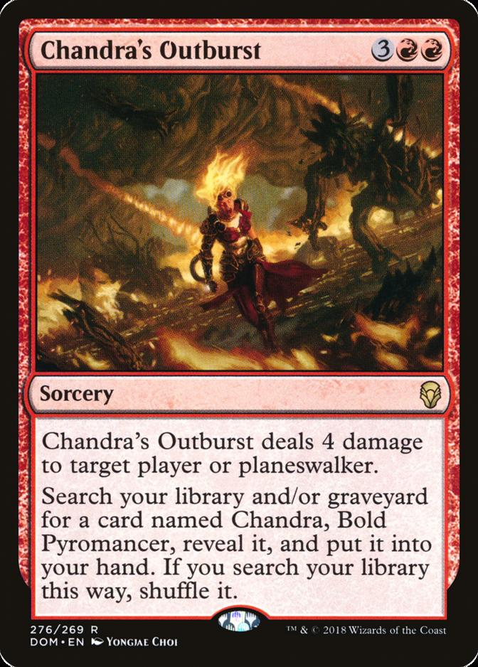 Chandra's Outburst [DOM]