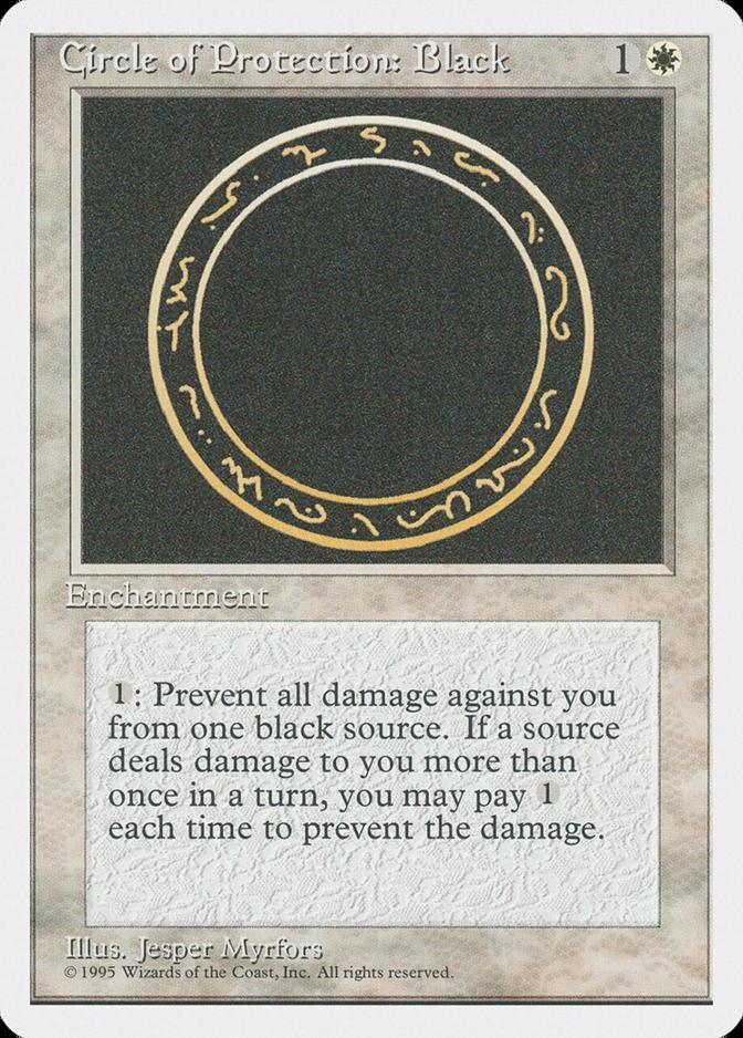 Circle of Protection: Black [4ED]