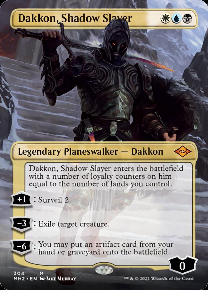 Dakkon, Shadow Slayer <borderless> [MH2]