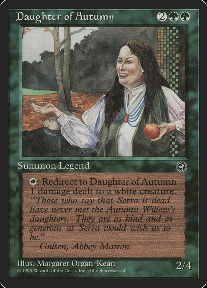 Daughter of Autumn Homelands HEAVILY PLD Green Rare MAGIC MTG CARD ABUGames