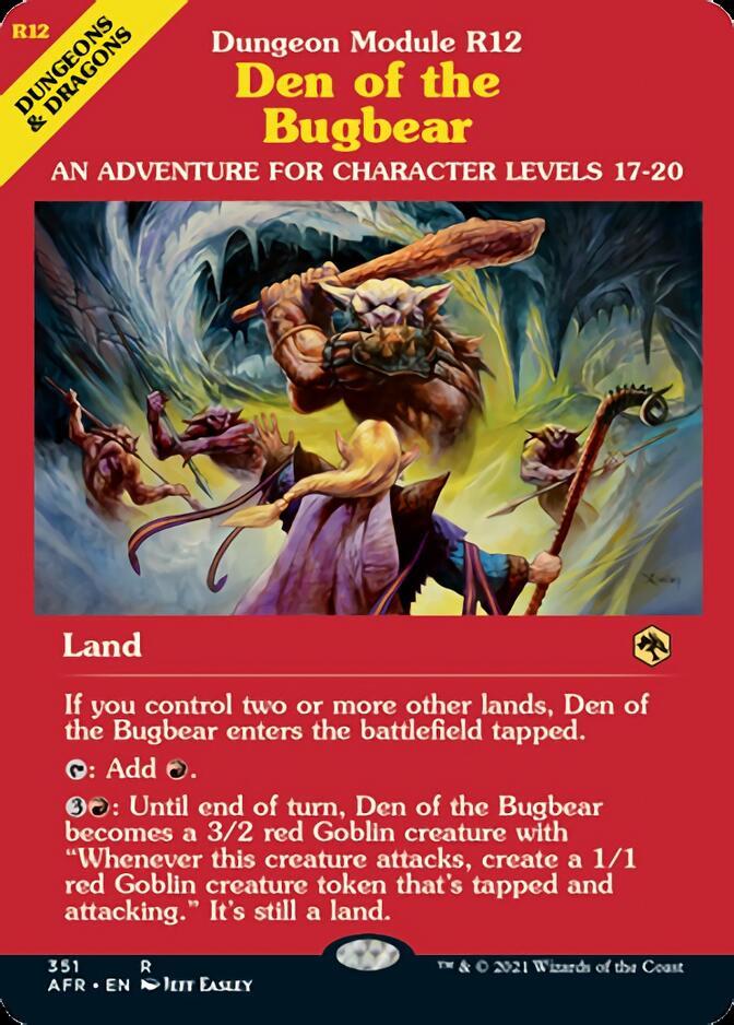 Den of the Bugbear <classic module> [AFR]