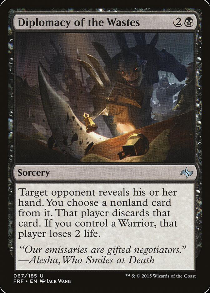 Diplomacy of the Wastes [FRF] (F)