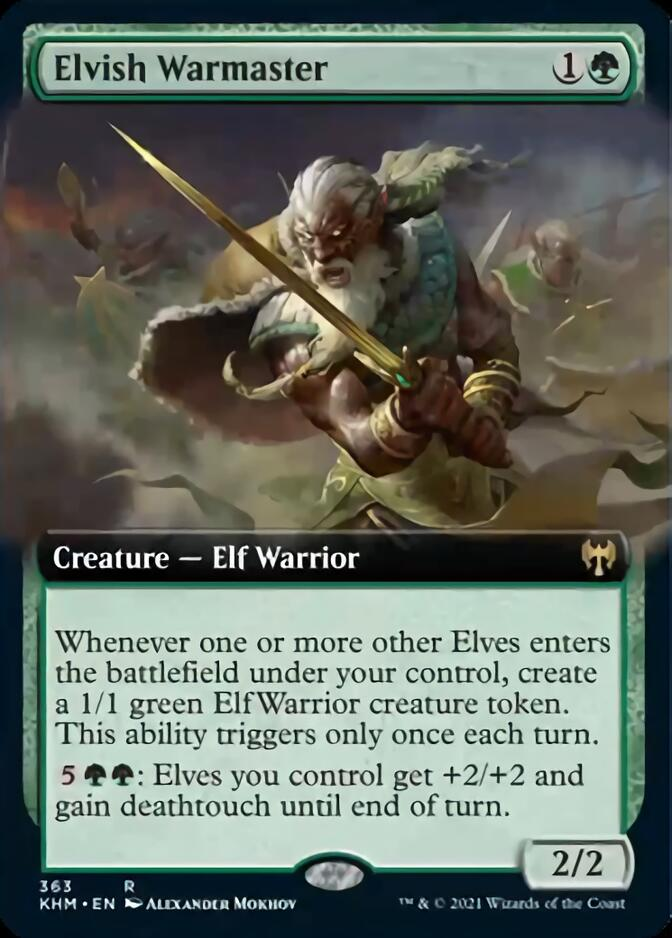Elvish Warmaster <extended> [KHM]